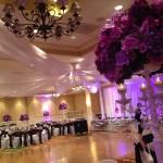 Purples silk rental centerpieces