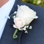 roses with spray rose boutonniere