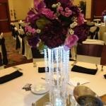 Silk centerpiece small size dark purple
