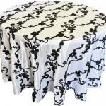 RibbonTaffeta tablecloths rentals
