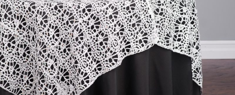 Chemical Lace tablecloths rentals