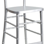 Chiavari Chair Stool Silver