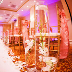 Weddings Ceremonies Cylinders with orchid under water