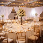Ivory and gold reception table at Floridan Palace