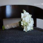 Hand Tie Bride bouquet white mini calla