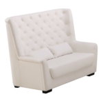 High Back white love seat