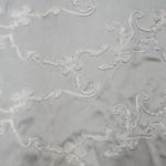 Ribbon taffeta tablecloths - SILVER