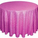 Glitz sequins tablecloths rentals Fuchsia