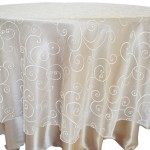 Embroidered Organza Tablecloth rentals Ivory