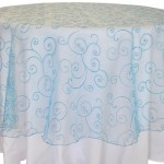 embroidered organza Turquoise