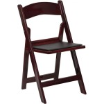 folding chair mahogany
