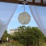 white carnations Pomander Ball