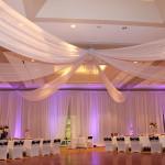 6 panes white ceiling drape
