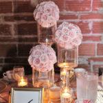 Small flower balls centerpice