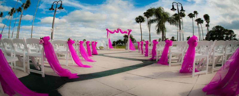 wedding ceremony at Safety Harbor Resort