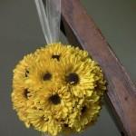 yellow pompom Pomander Ball