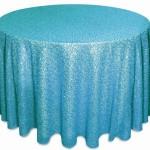 Glitz sequins tablecloths rentals Turquoise