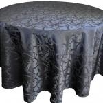 Versailles Jacquard Damask Tablecloth Rentals-black