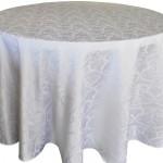 Versailles jacquard damask tablecloth rentals-white