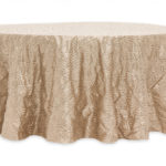 Scale Tablecloths Rentals - Champagne